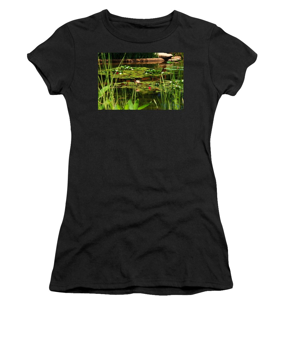 Pond Women's T-Shirt (Athletic Fit) featuring the photograph Idyllic Aternoon by Lyle Hatch