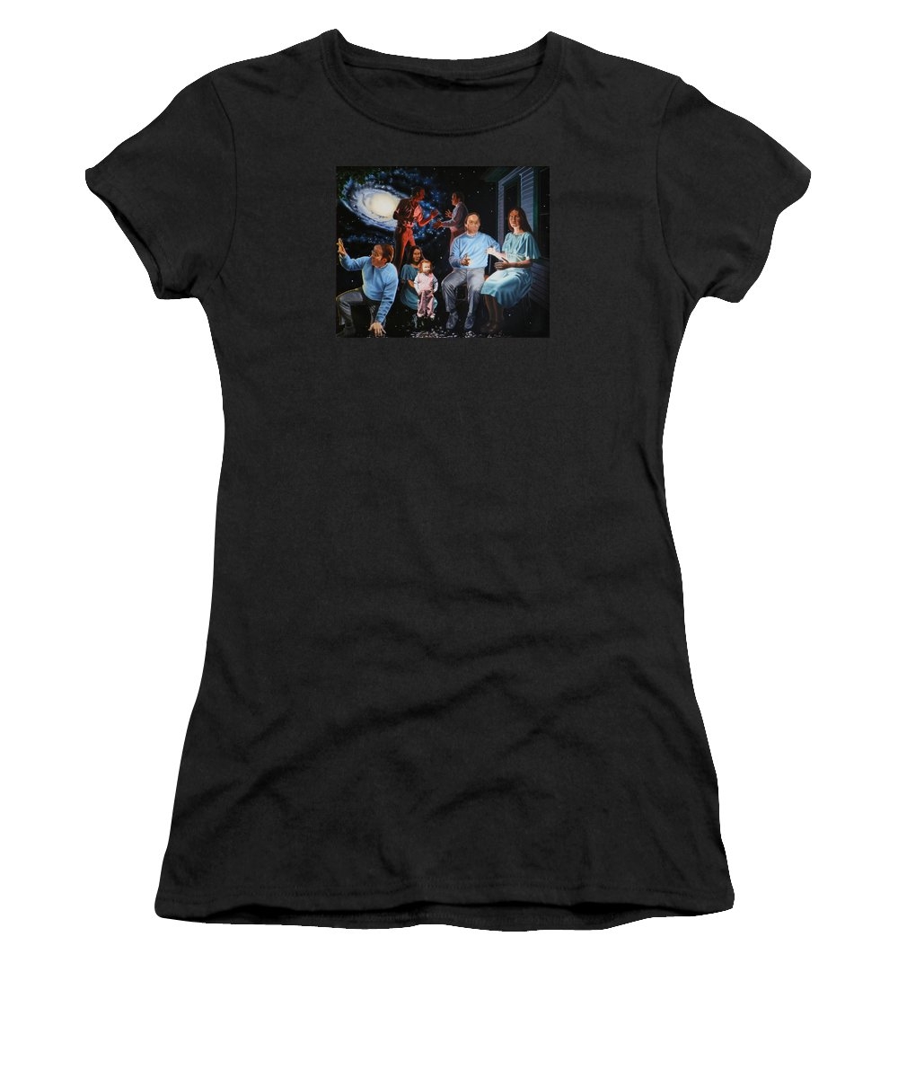 Surreal Women's T-Shirt featuring the painting Illumination Beyond Ursa Major by Dave Martsolf