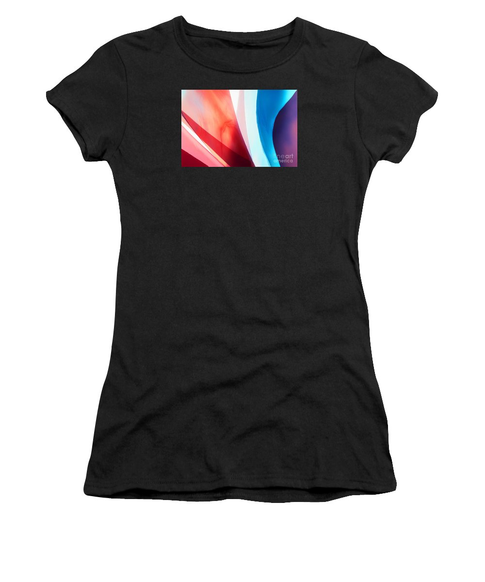 Art Deco Women's T-Shirt (Athletic Fit) featuring the photograph Illuminations 16 by Barbara Chase