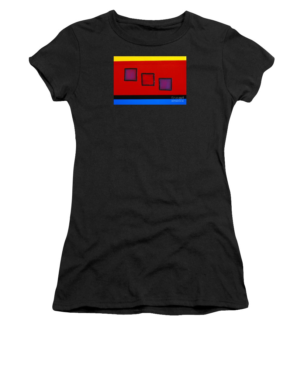 Art-deco Women's T-Shirt (Athletic Fit) featuring the photograph Illuminations 2 by Barbara Chase
