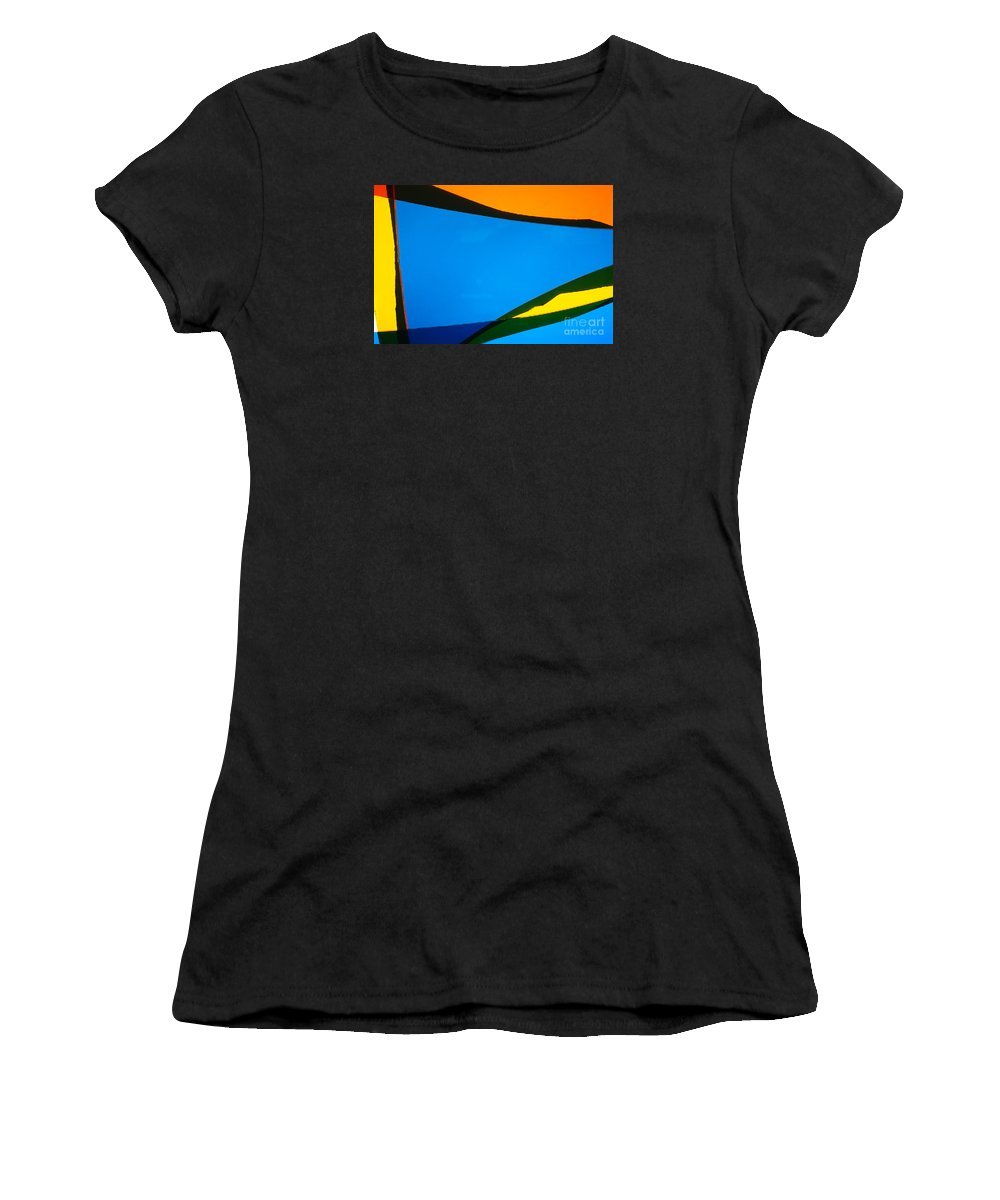 Art Deco Women's T-Shirt (Athletic Fit) featuring the photograph Illuminations 40 by Barbara Chase