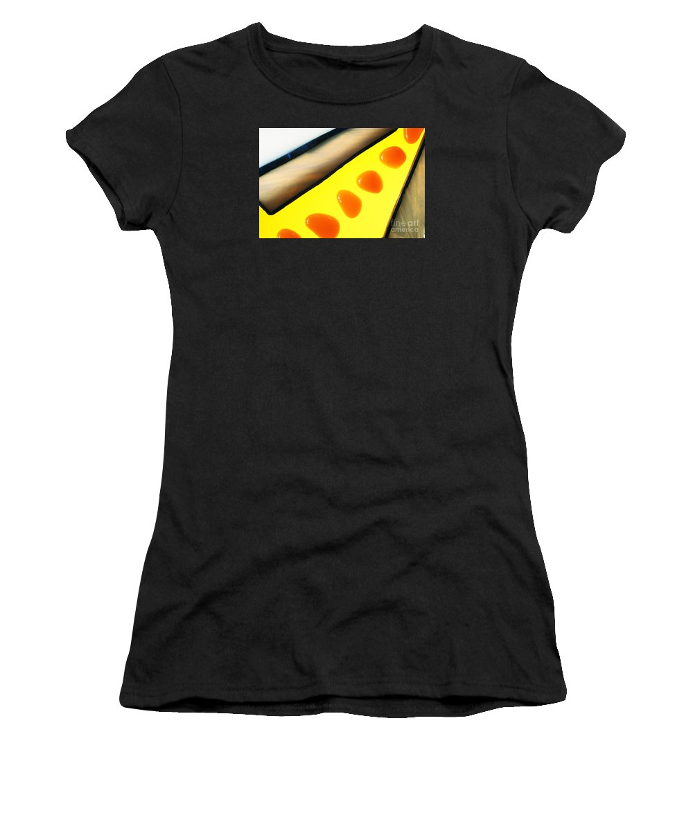 Art-deco Women's T-Shirt (Athletic Fit) featuring the photograph Illuminations 63 by Barbara Chase