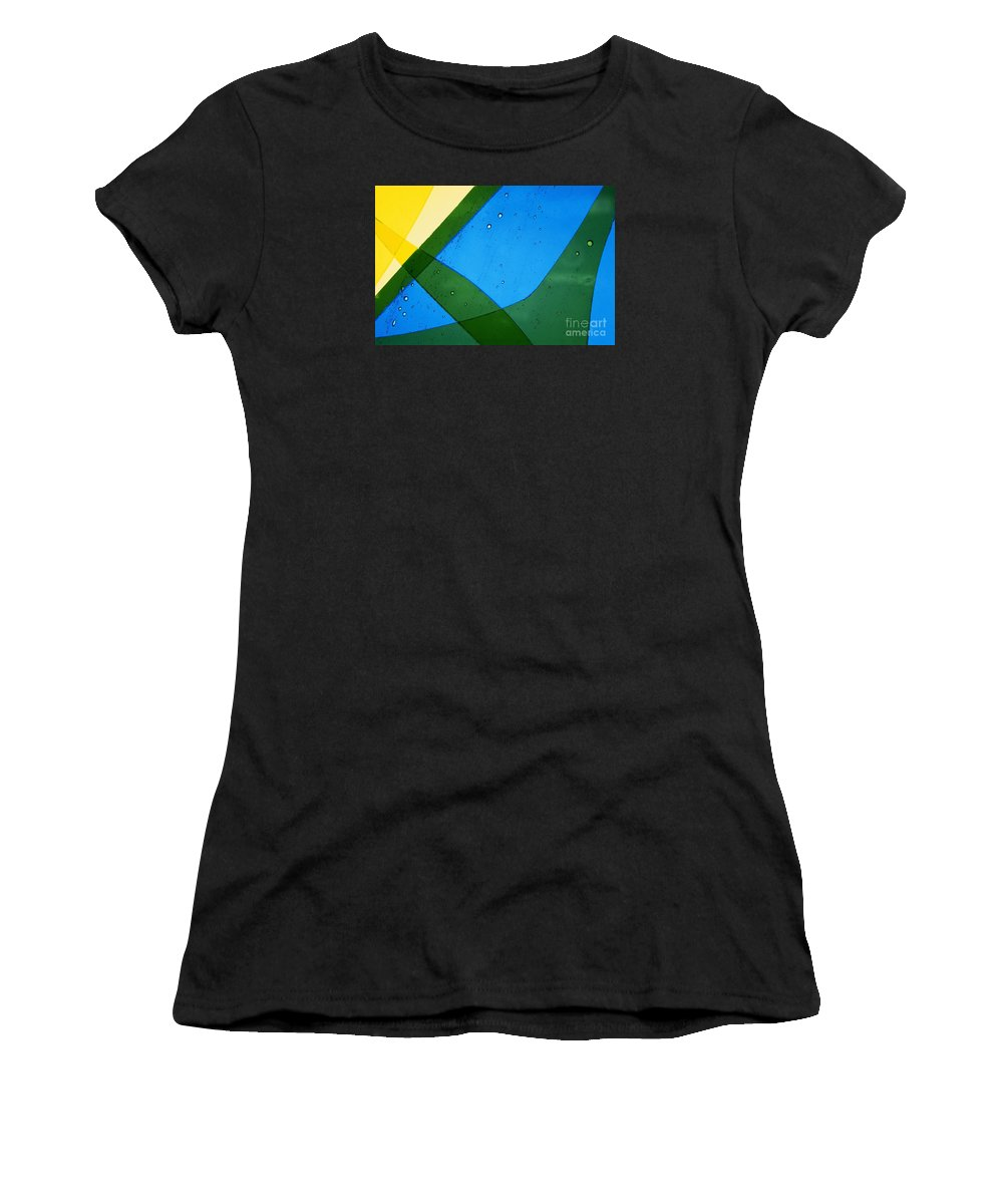 Art-deco Women's T-Shirt (Athletic Fit) featuring the photograph Illuminations 65 by Barbara Chase