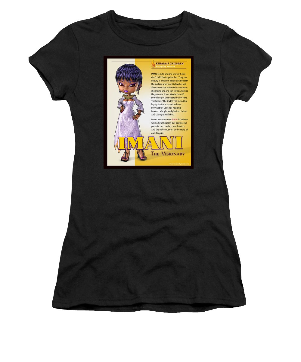 Kwanzaa Women's T-Shirt featuring the photograph Imani, The Visionary by Darryl Crosby