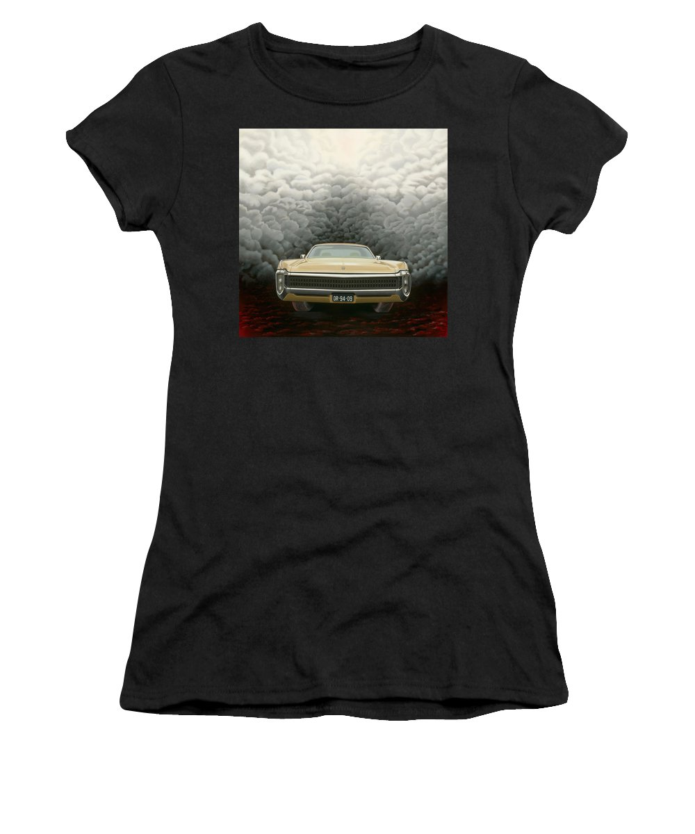 Surreal Women's T-Shirt (Athletic Fit) featuring the painting Imperial by Patricia Van Lubeck