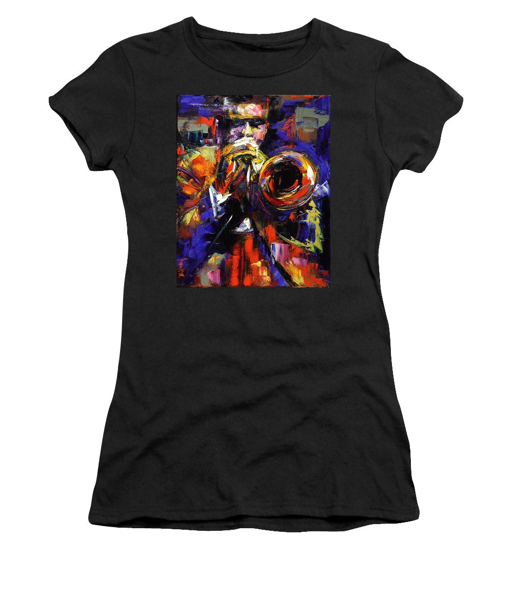 Trumpet Women's T-Shirt (Athletic Fit) featuring the painting Improv by Debra Hurd