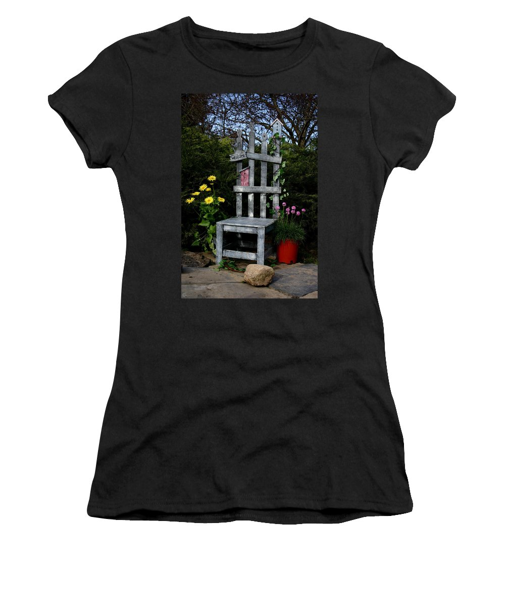 Garden Women's T-Shirt (Athletic Fit) featuring the photograph In My Garden by Karol Livote