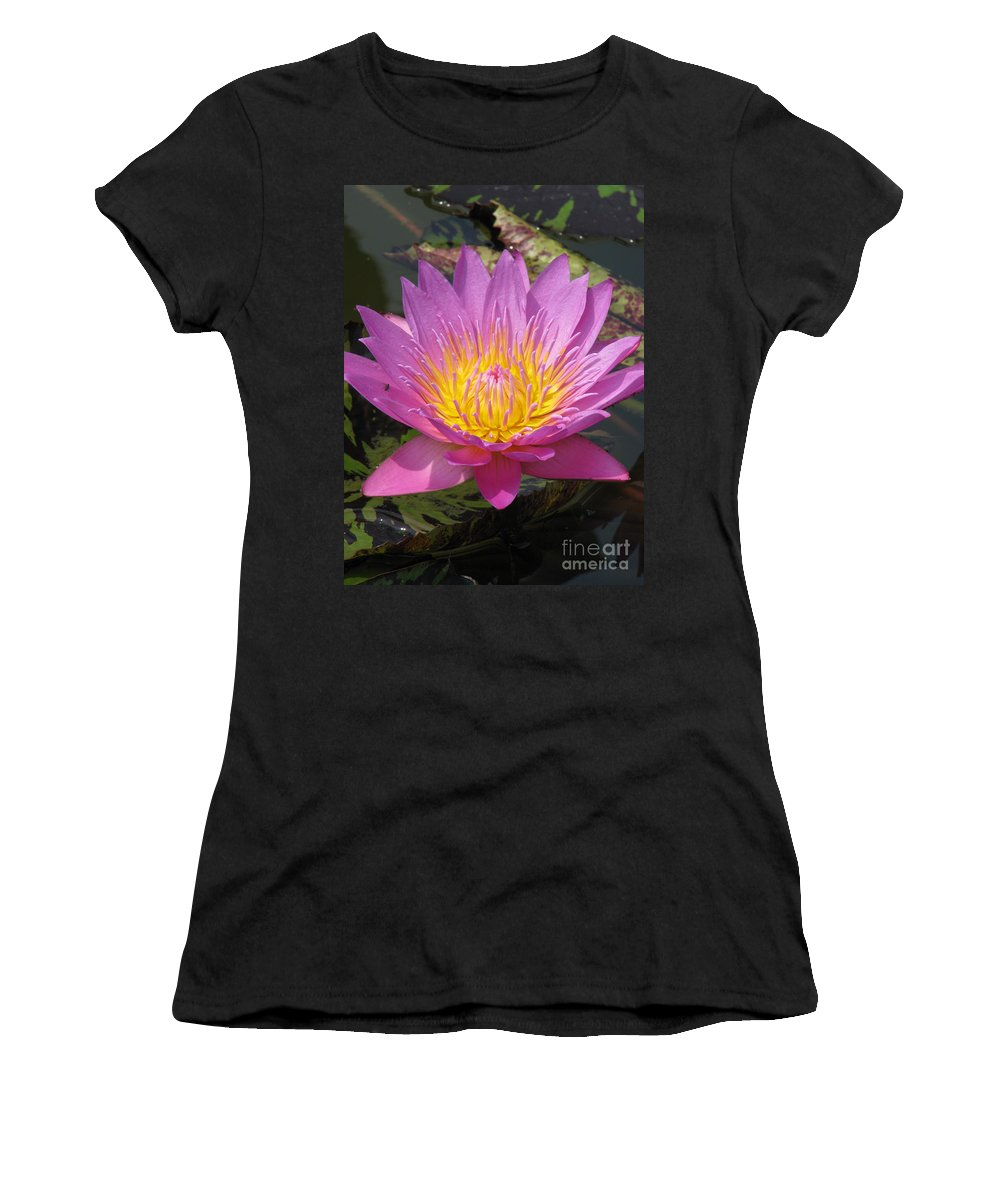 Lotus Women's T-Shirt (Athletic Fit) featuring the photograph In Position by Amanda Barcon