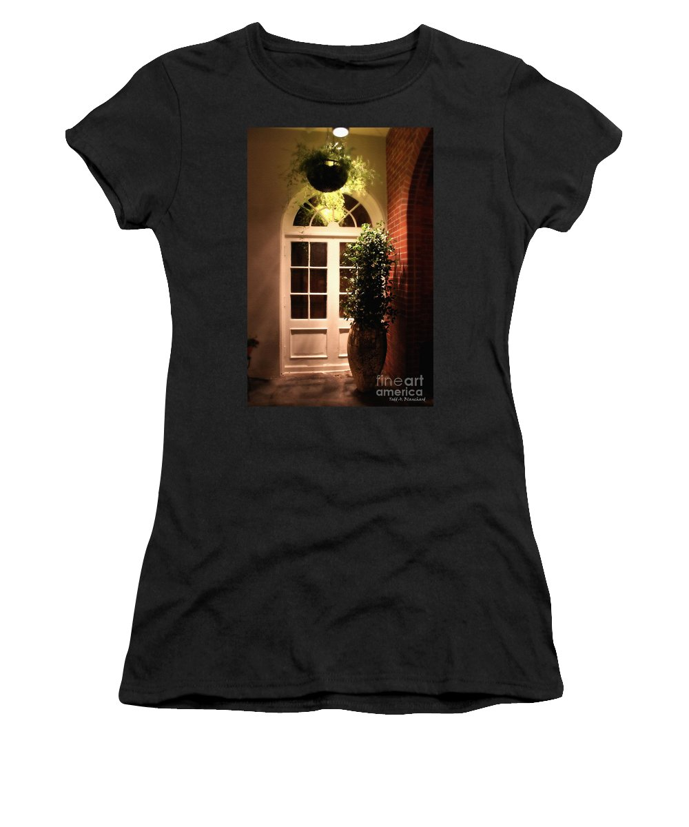 Architecture Women's T-Shirt (Athletic Fit) featuring the photograph In The Courtyard by Todd Blanchard