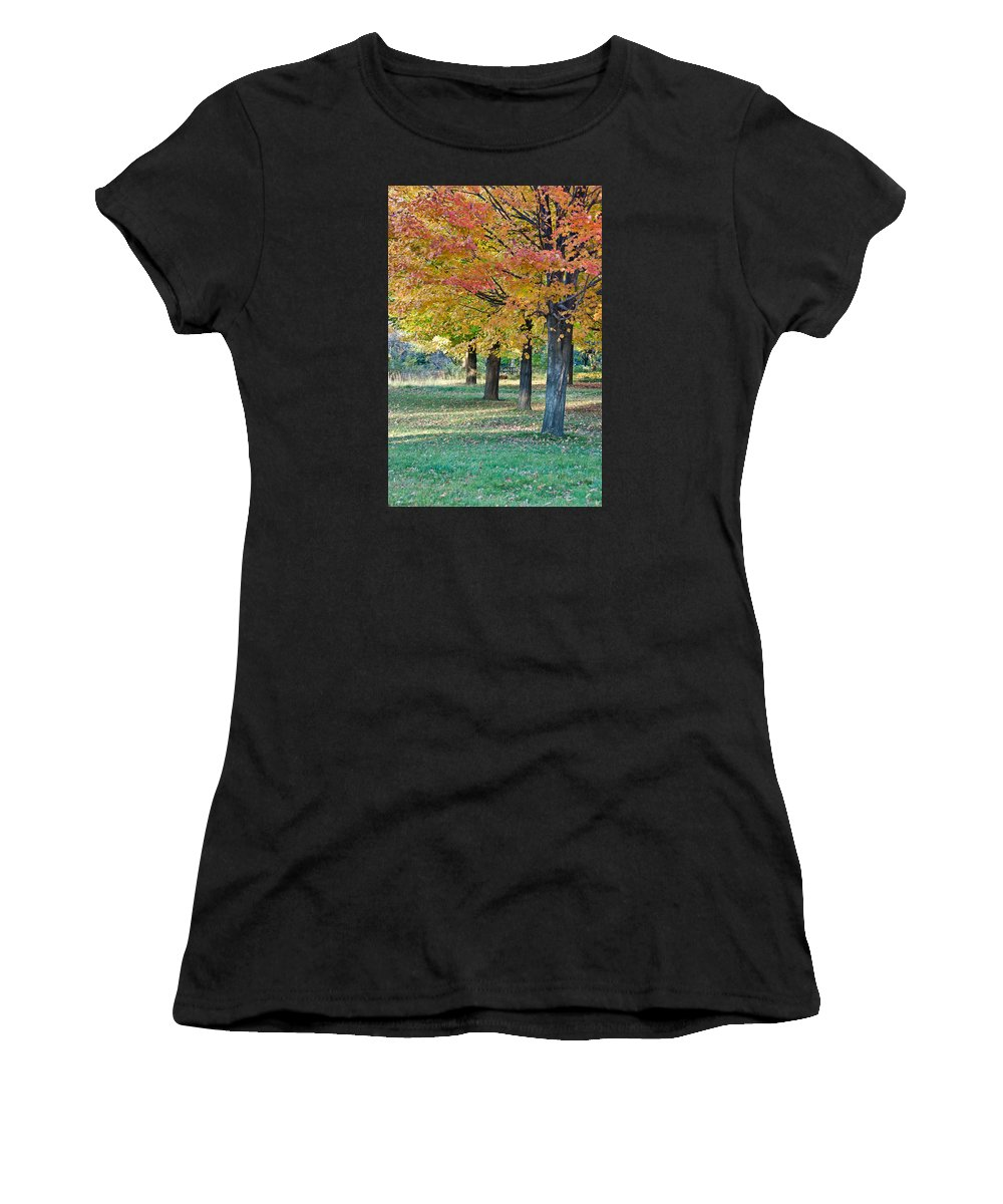 Women's T-Shirt featuring the photograph In The Fall by Alapati Gallery