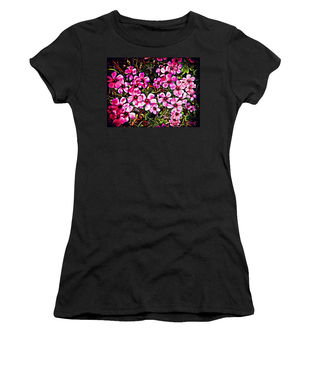 Garden Women's T-Shirt (Athletic Fit) featuring the photograph In The Garden by Leslie Revels