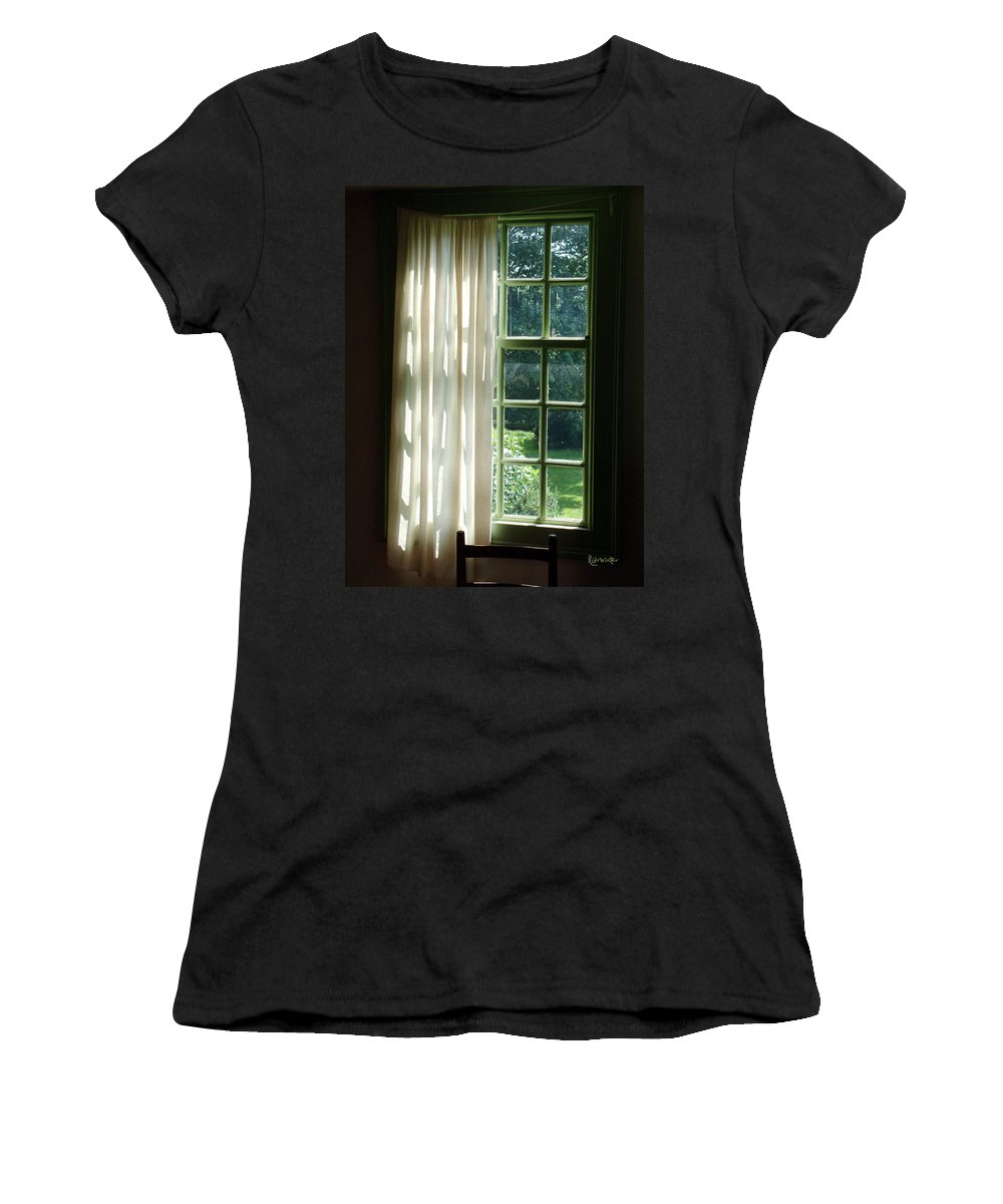Window Women's T-Shirt (Athletic Fit) featuring the photograph In The Quiet Of The Afternoon by RC deWinter