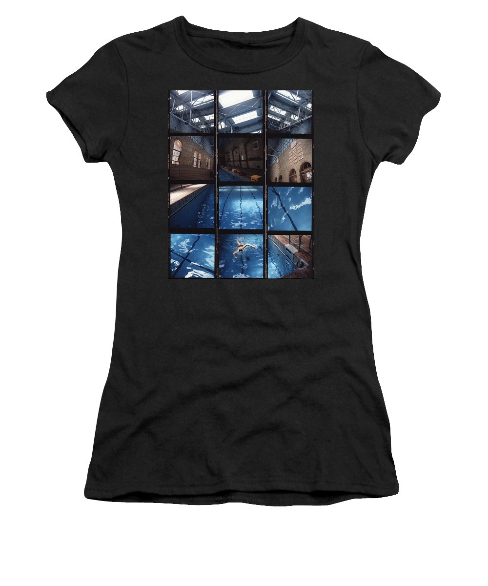 Pool Women's T-Shirt (Athletic Fit) featuring the photograph Indoor Pool by Steve Williams