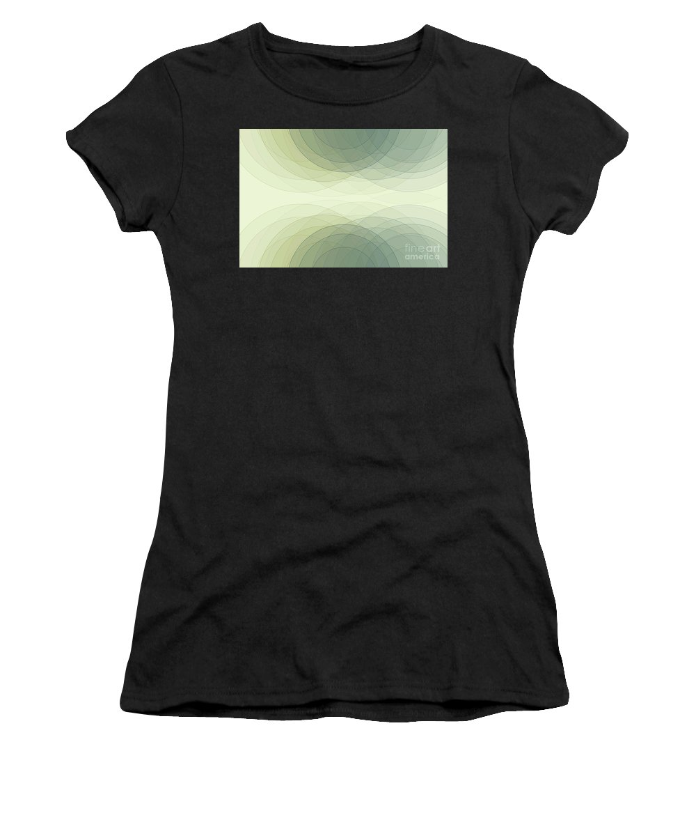 Abstract Women's T-Shirt (Athletic Fit) featuring the digital art Industry Semi Circle Background Horizontal by Frank Ramspott