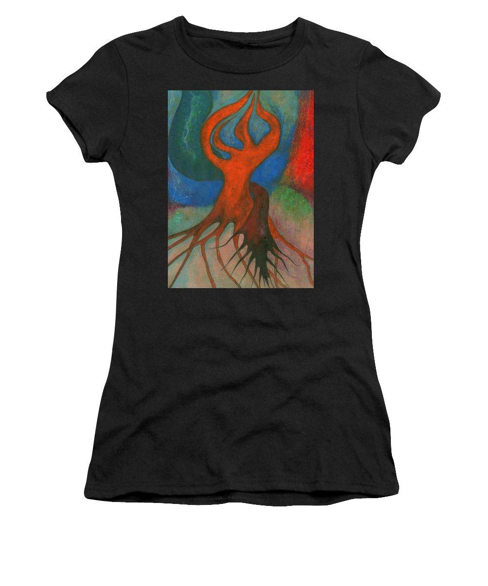 Colour Women's T-Shirt featuring the pastel Infatuation by Wojtek Kowalski