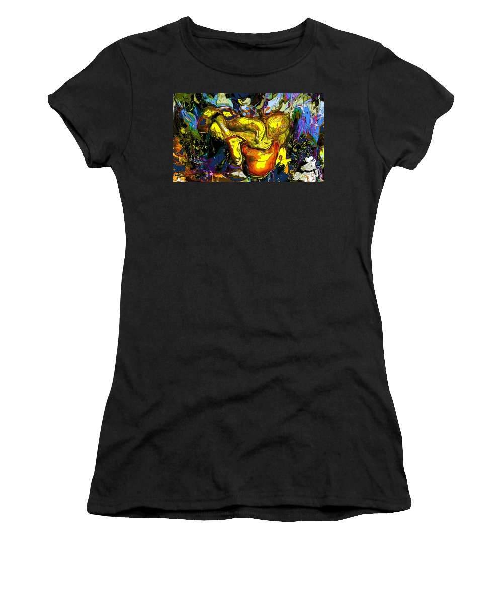 Abstract Women's T-Shirt featuring the digital art Infinite Complexity One by Ian MacDonald