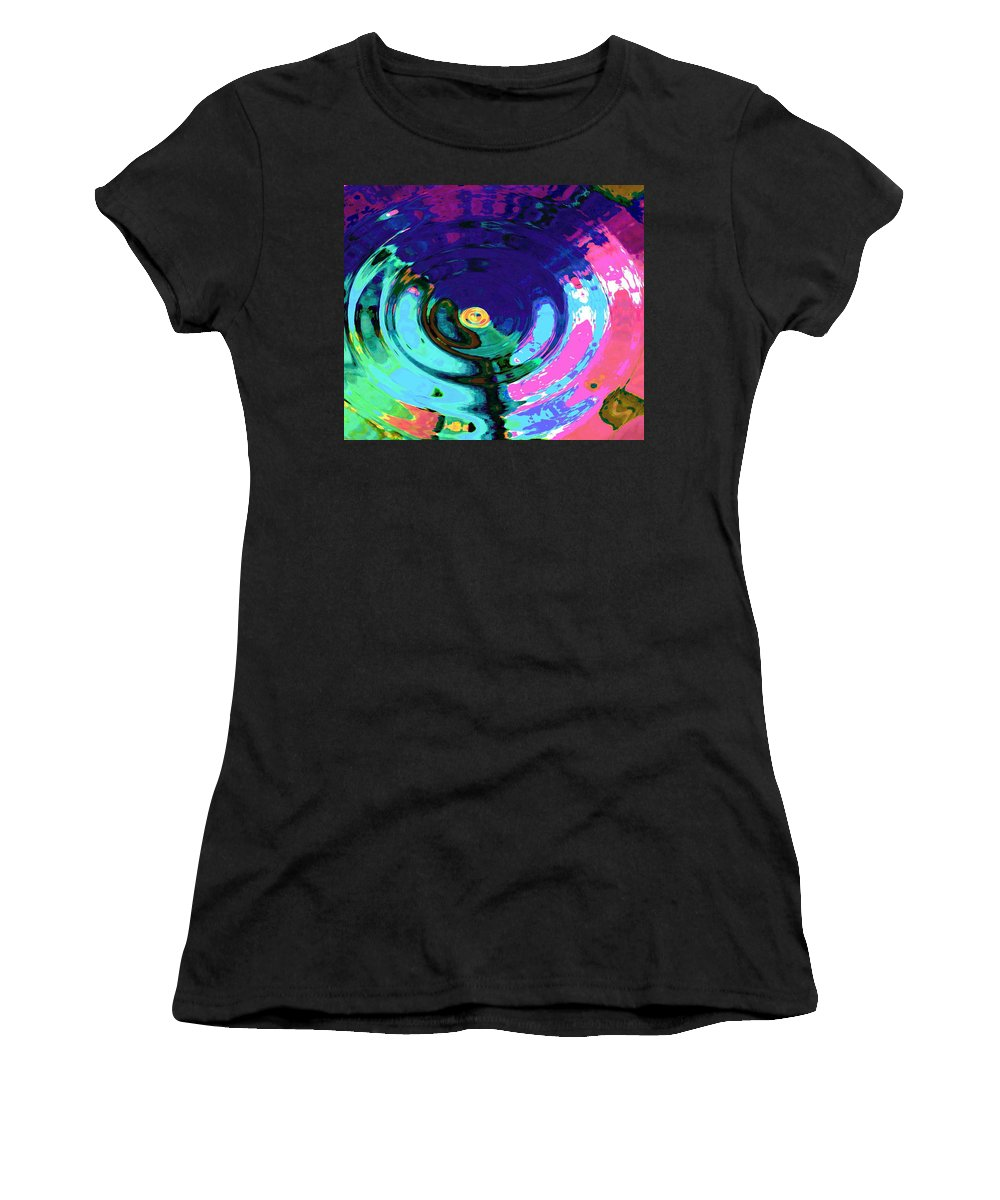 Blue Women's T-Shirt (Athletic Fit) featuring the digital art Infinity by Natalie Holland