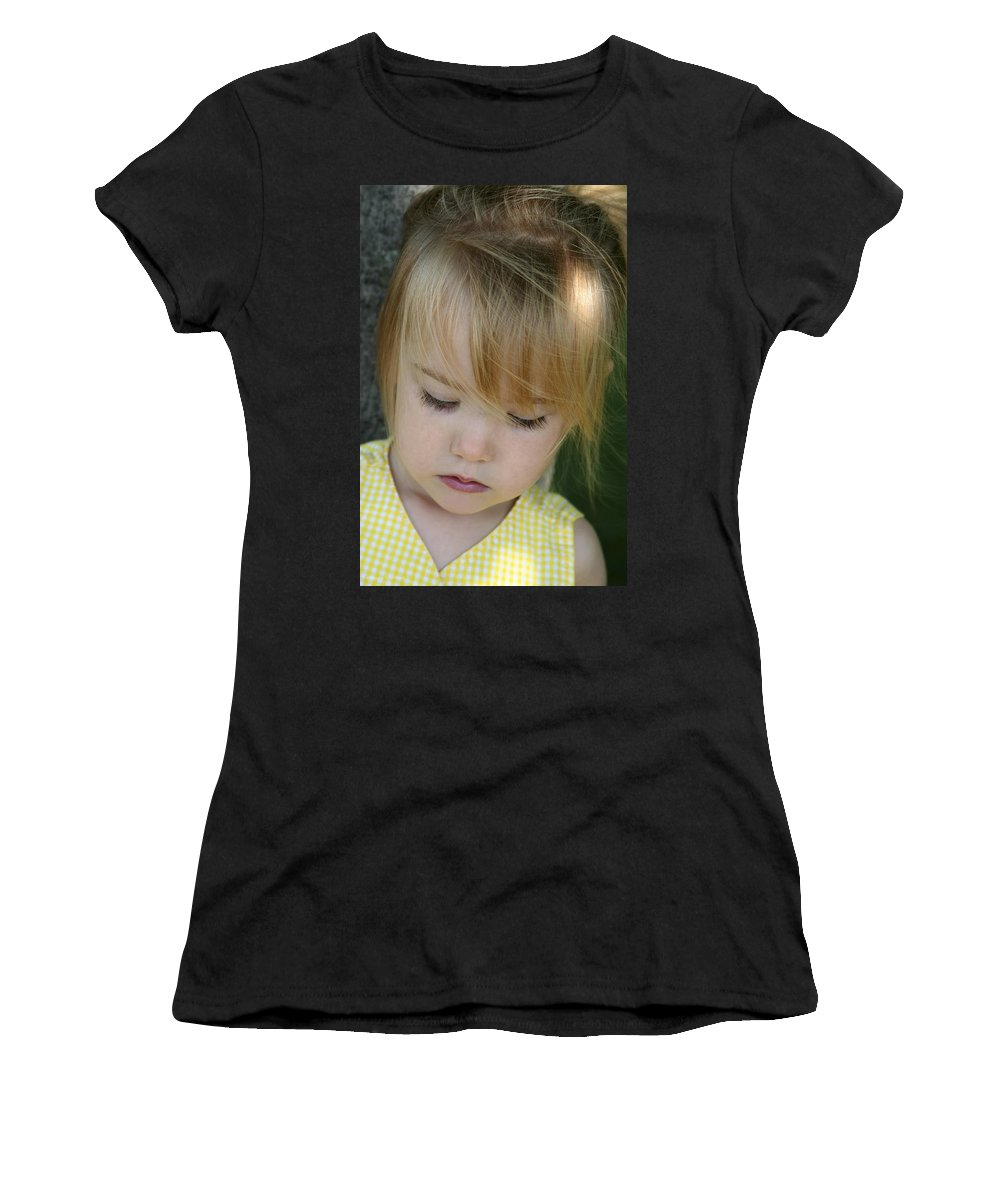 Angelic Women's T-Shirt (Athletic Fit) featuring the photograph Innocence II by Margie Wildblood
