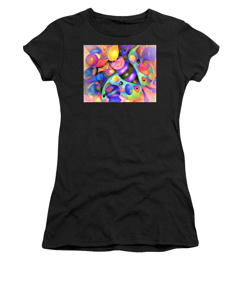 Bee Women's T-Shirt featuring the pastel Insect Masquerade Party by Laurie Cairone