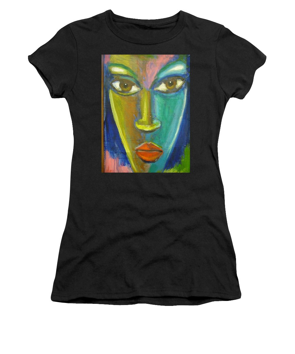 Painting Women's T-Shirt (Athletic Fit) featuring the painting Intensity by Jan Gilmore