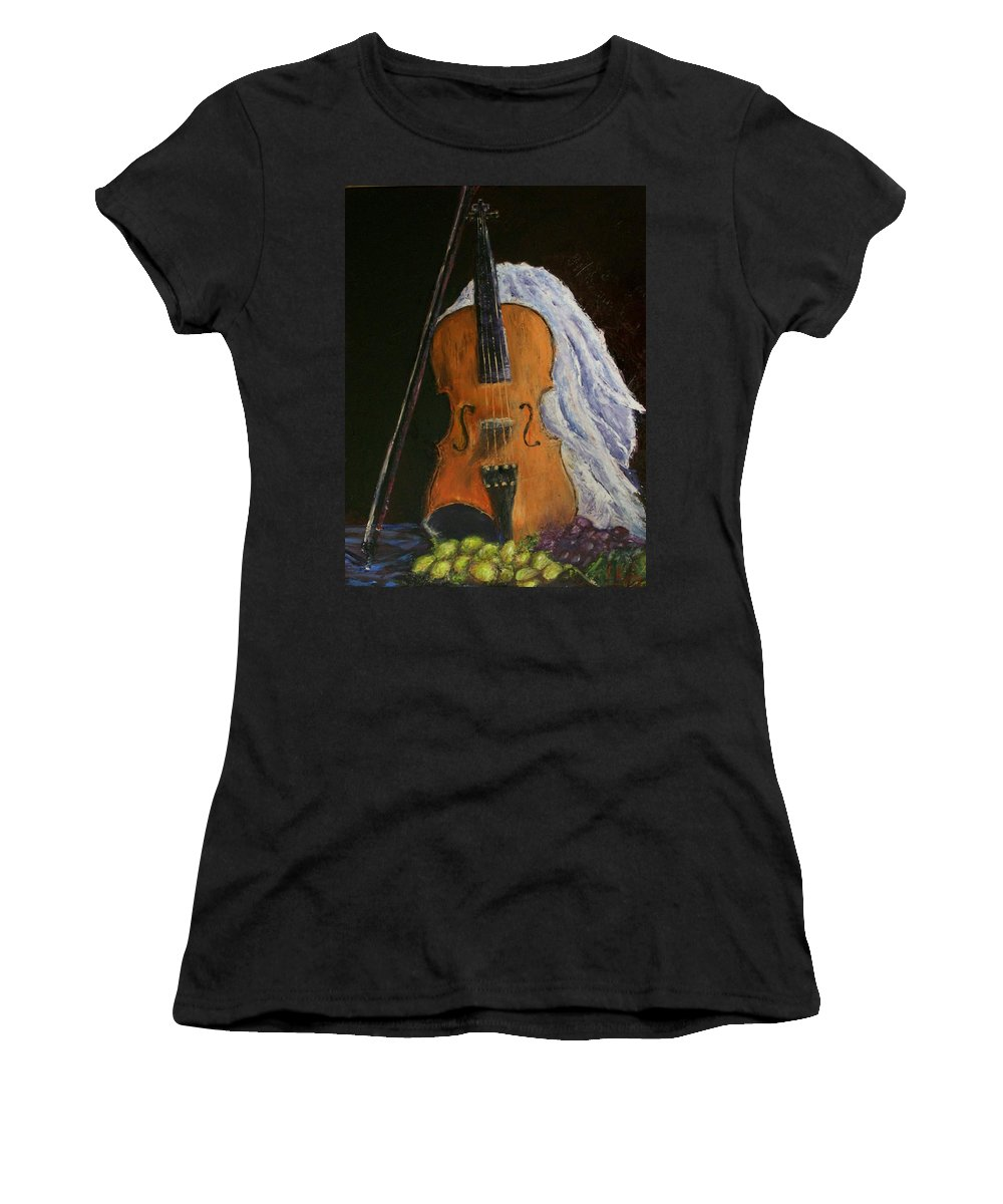 Original Women's T-Shirt (Athletic Fit) featuring the painting Intermission by Stephen King