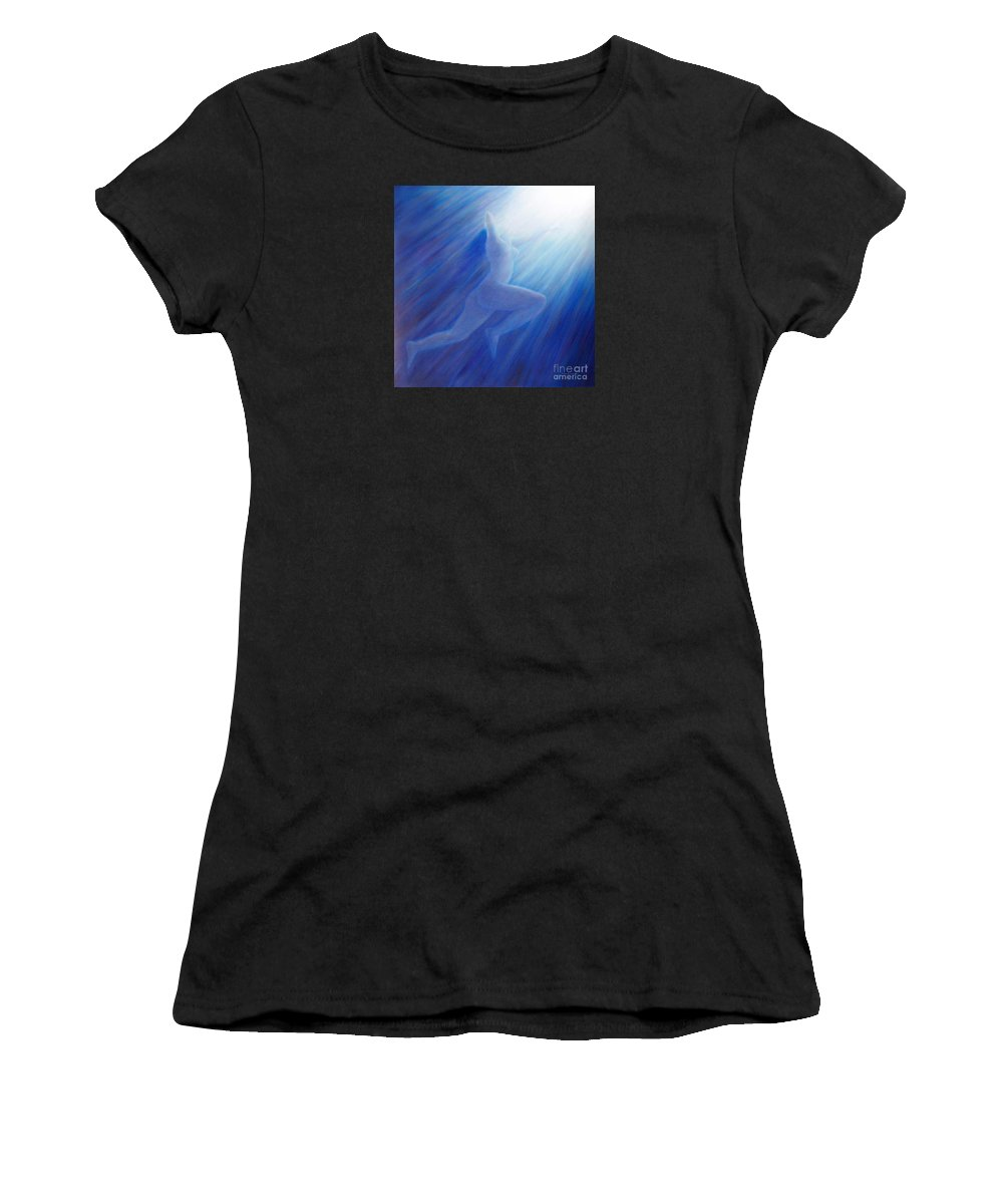 Spiritual Women's T-Shirt (Athletic Fit) featuring the painting Into The Light by Brian Commerford