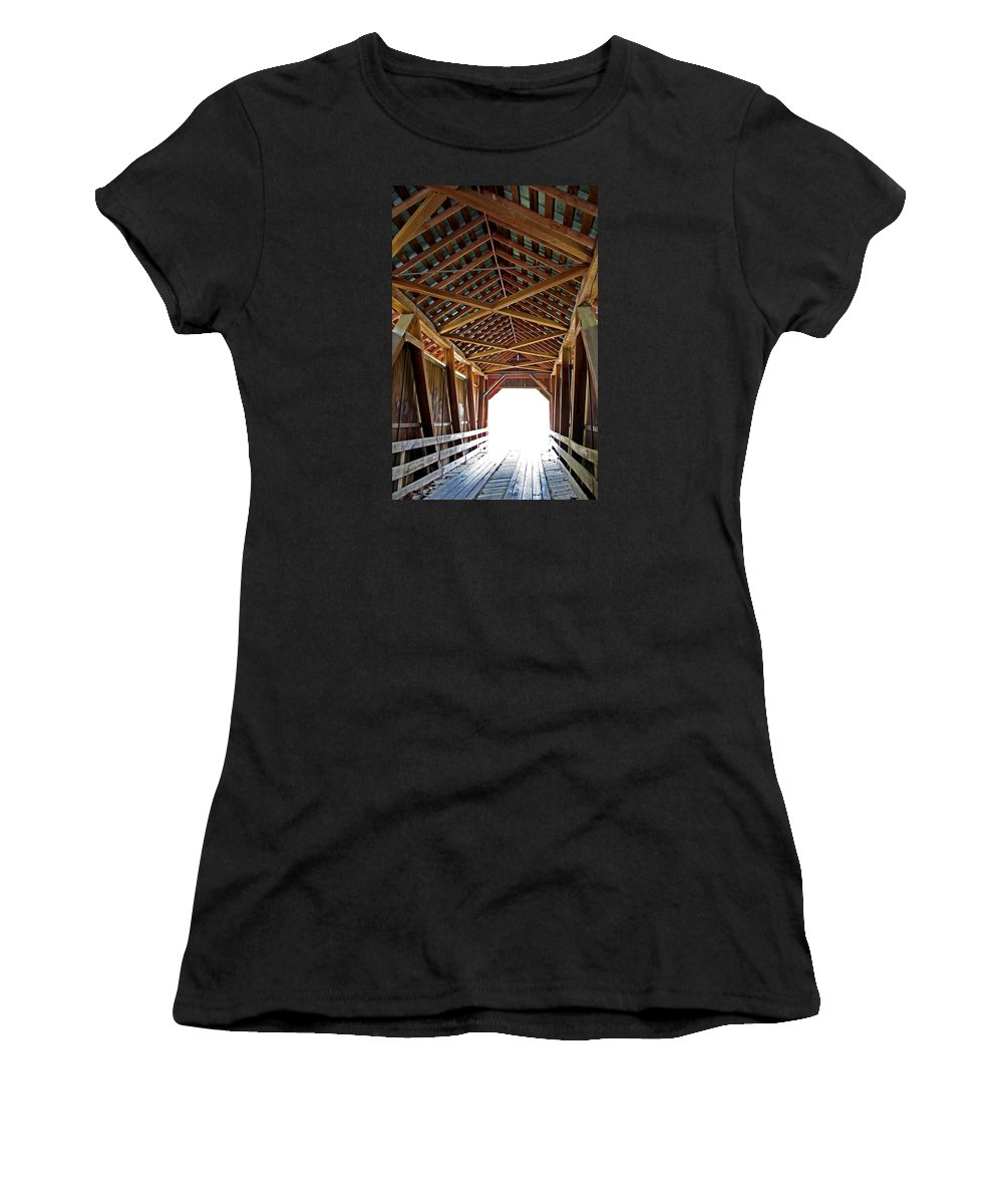 Light Women's T-Shirt (Athletic Fit) featuring the photograph Into The Light by Margie Wildblood