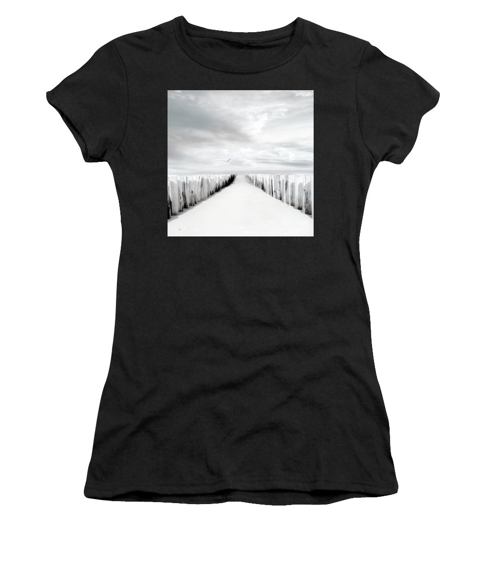 Beach Women's T-Shirt (Athletic Fit) featuring the photograph Inviting by Jacky Gerritsen