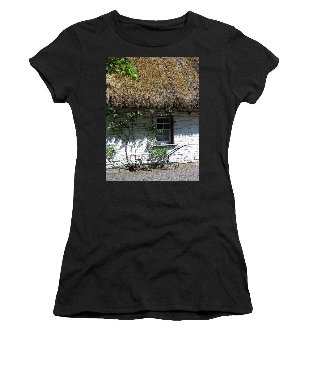 Irish Women's T-Shirt featuring the photograph Irish Farm Cottage Window County Cork Ireland by Teresa Mucha