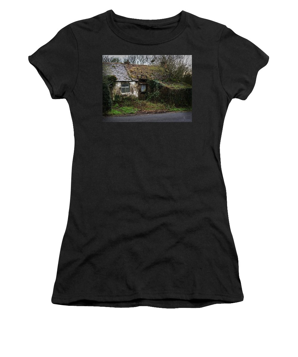 Hovel Women's T-Shirt (Athletic Fit) featuring the photograph Irish Hovel by Tim Nyberg