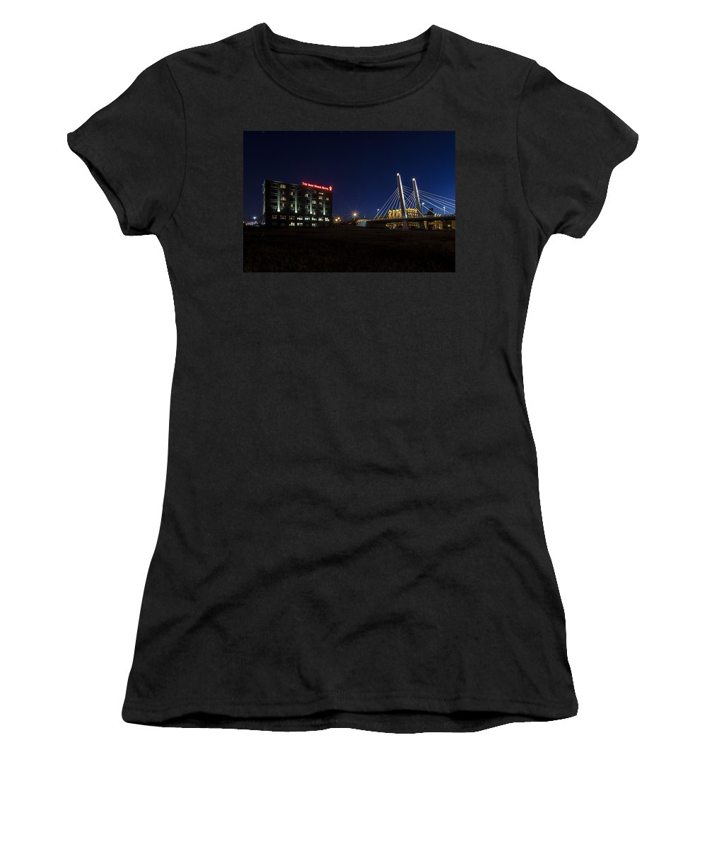 Www.cjschmit.com Women's T-Shirt (Athletic Fit) featuring the photograph Iron Viaduct by CJ Schmit