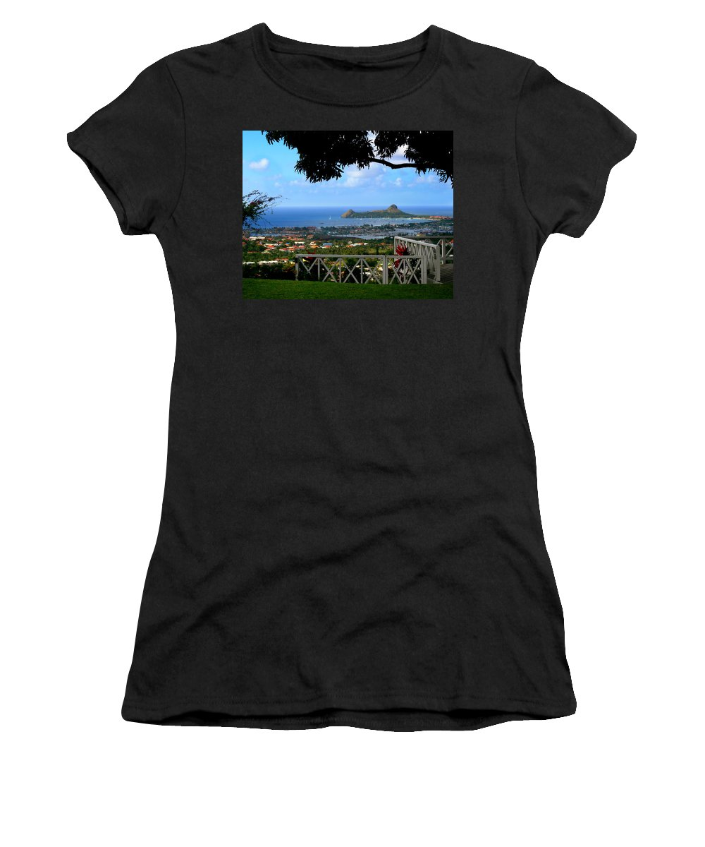 Bay Women's T-Shirt (Athletic Fit) featuring the photograph Island Bay by Perry Webster