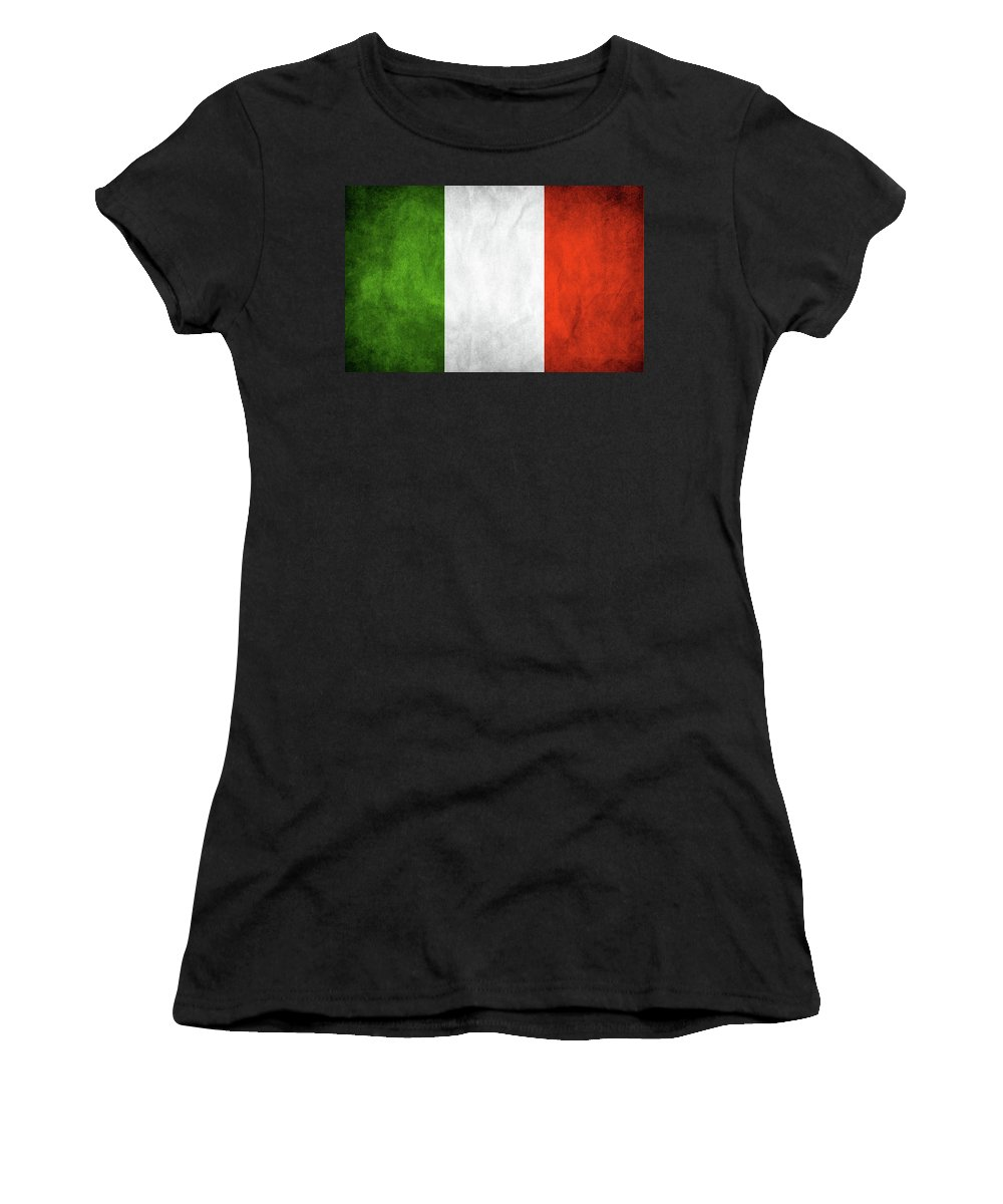 Flag Women's T-Shirt (Athletic Fit) featuring the digital art Italian Flag by Susy