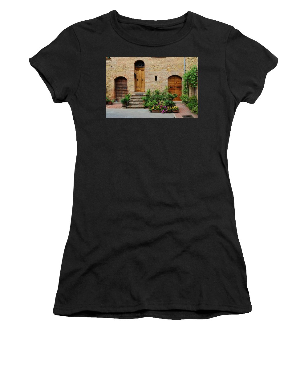 Europe Women's T-Shirt (Athletic Fit) featuring the photograph Italy - Door Eight by Jim Benest