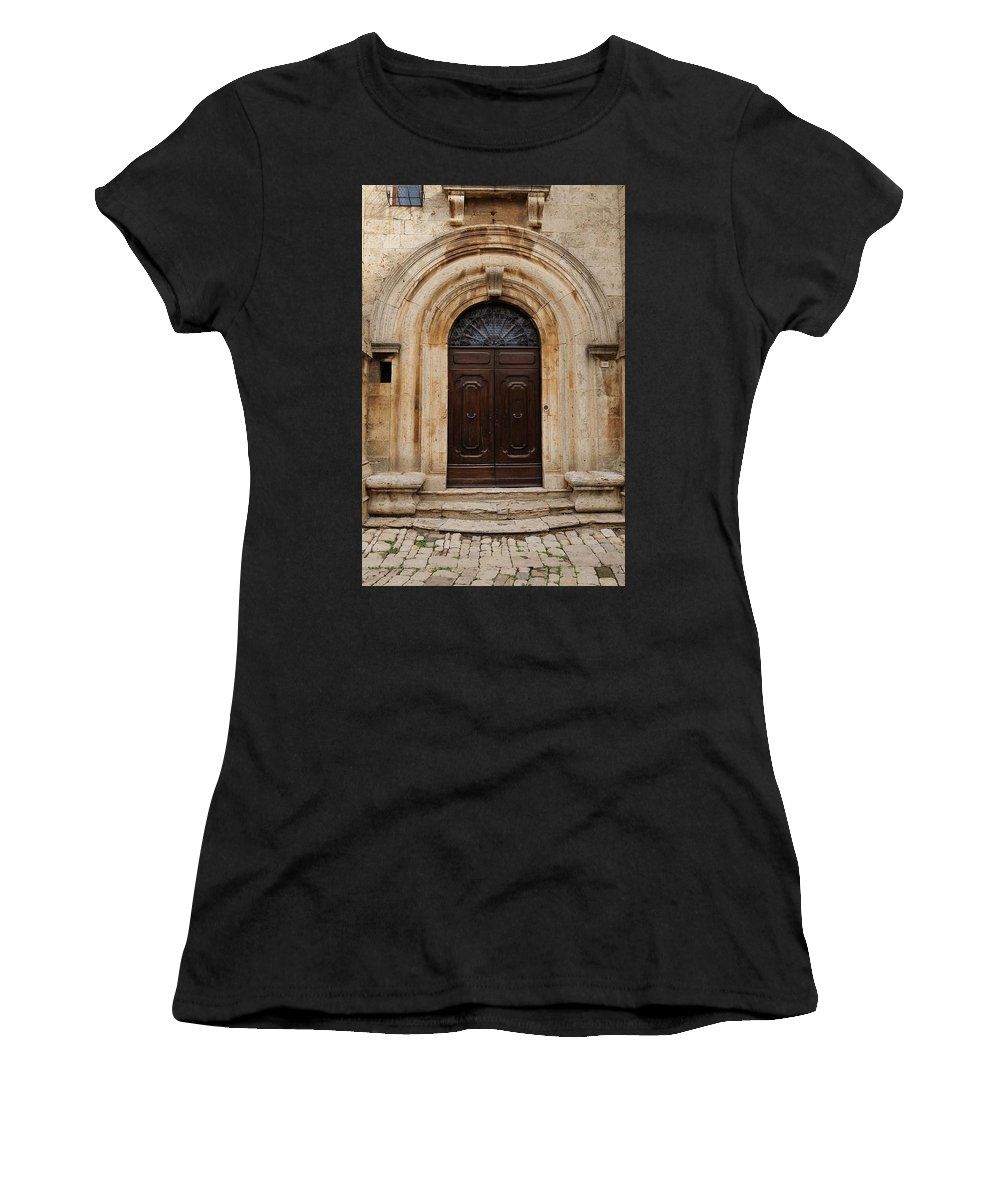 Europe Women's T-Shirt (Athletic Fit) featuring the photograph Italy - Door Eighteen by Jim Benest