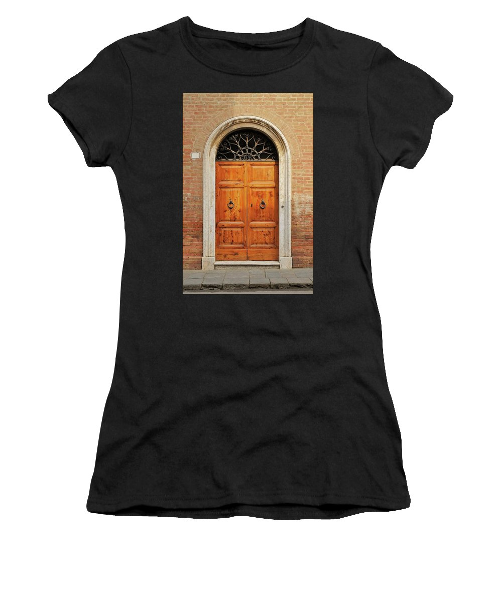 Europe Women's T-Shirt (Athletic Fit) featuring the photograph Italy - Door Fifteen by Jim Benest