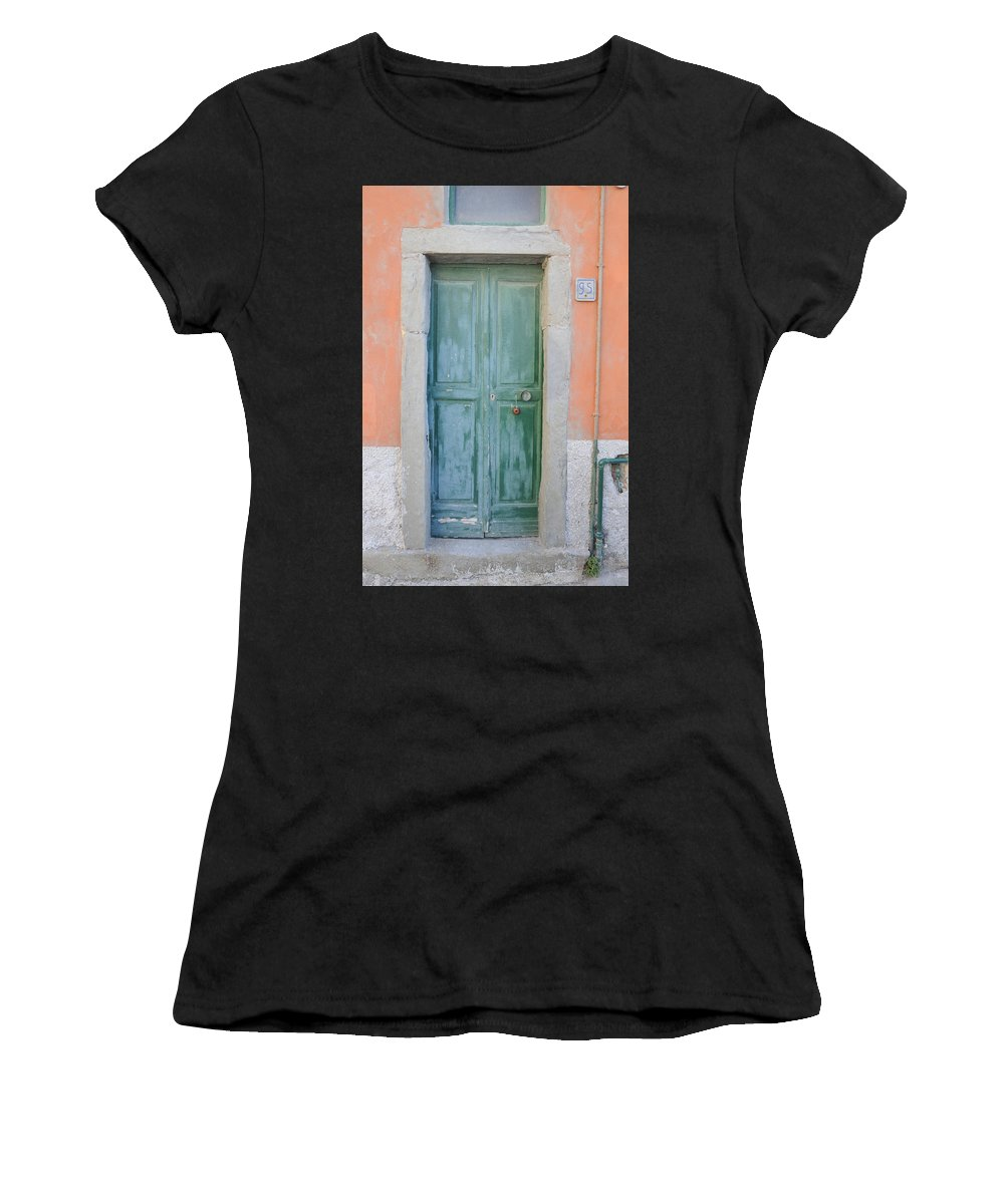 Europe Women's T-Shirt (Athletic Fit) featuring the photograph Italy - Door Five by Jim Benest