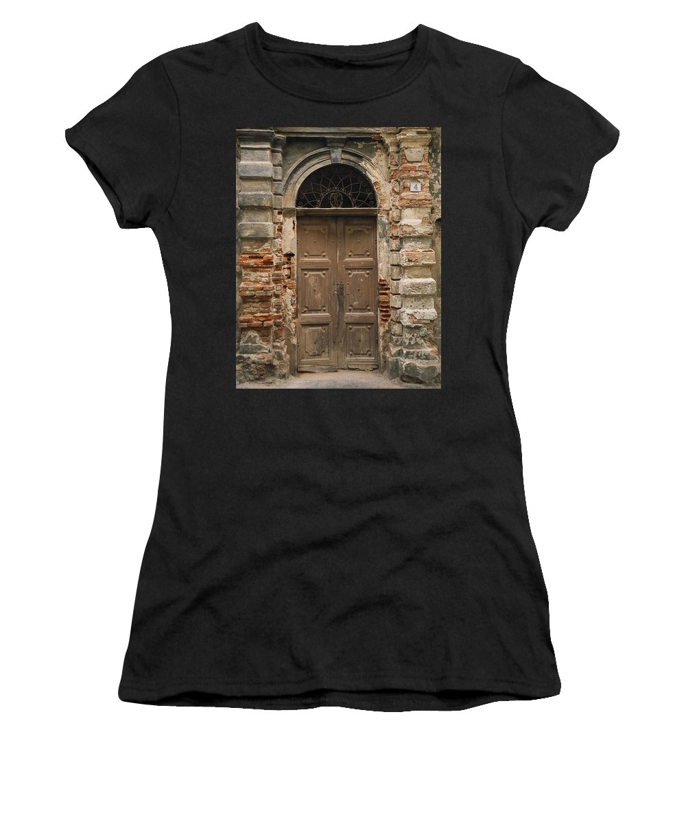 Europe Women's T-Shirt featuring the photograph Italy - Door Four by Jim Benest