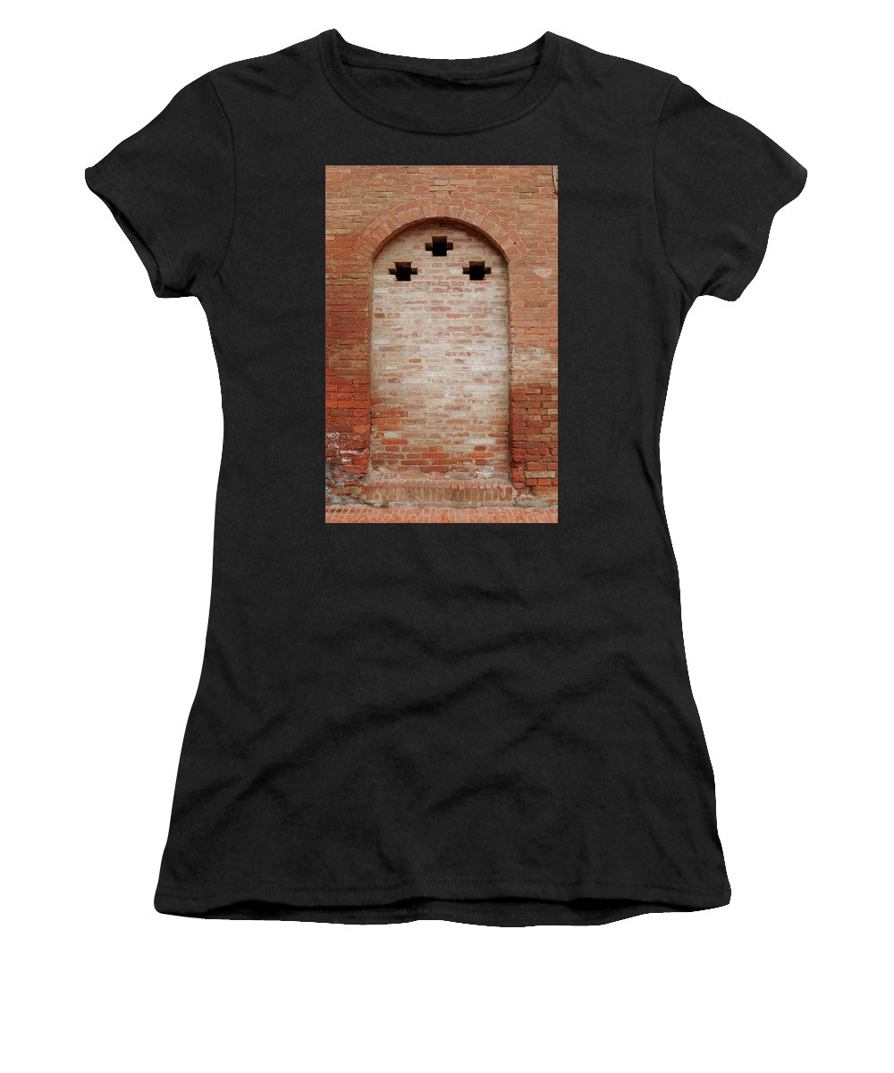 Europe Women's T-Shirt (Athletic Fit) featuring the photograph Italy - Door Fourteen by Jim Benest
