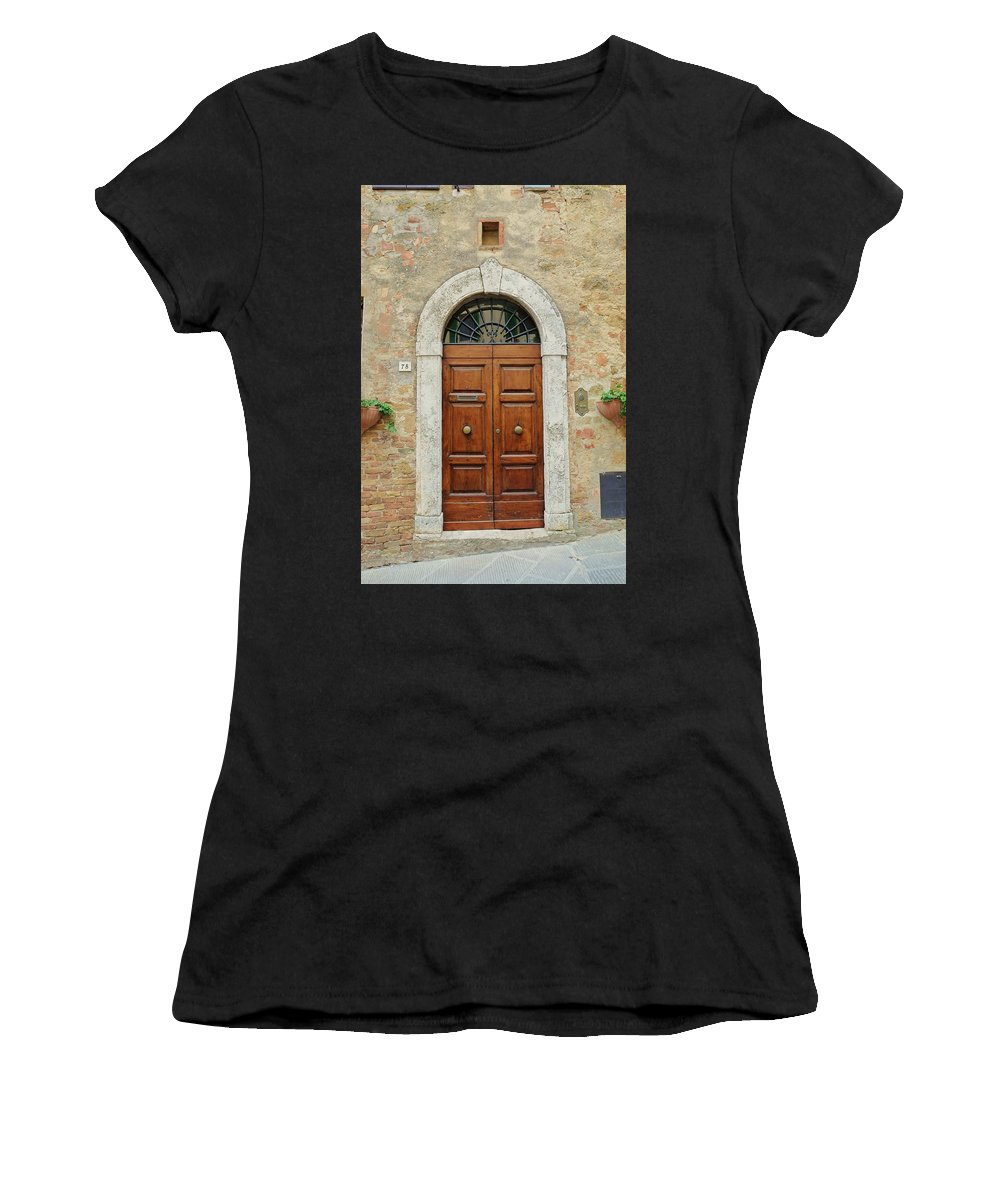 Europe Women's T-Shirt (Athletic Fit) featuring the photograph Italy - Door Twelve by Jim Benest