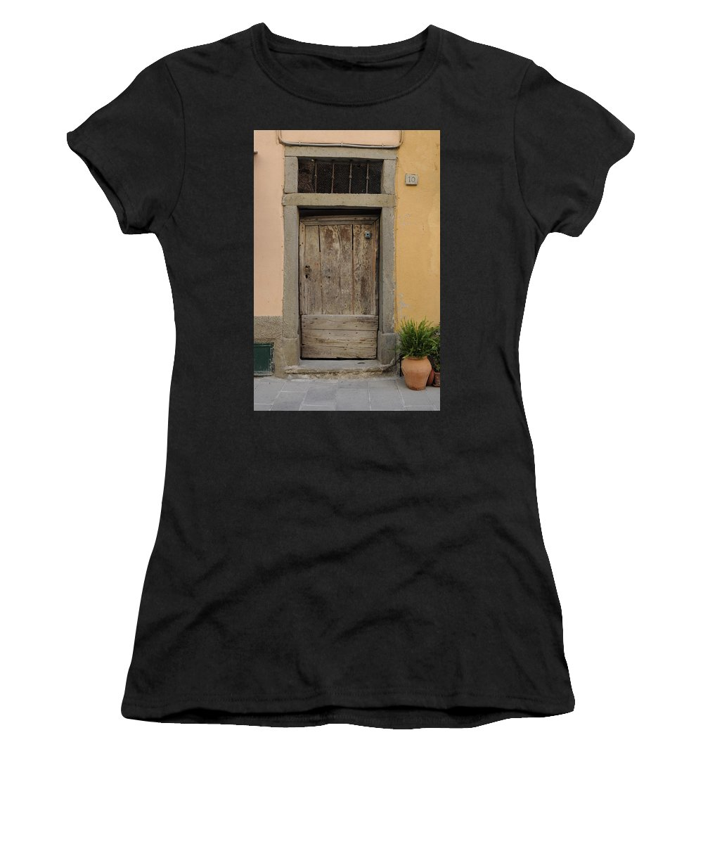 Europe Women's T-Shirt (Athletic Fit) featuring the photograph Italy - Door Twenty Three by Jim Benest