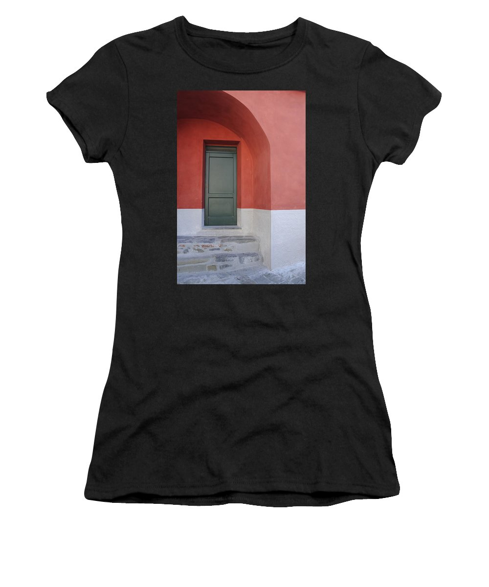 Europe Women's T-Shirt (Athletic Fit) featuring the photograph Italy - Door Two by Jim Benest