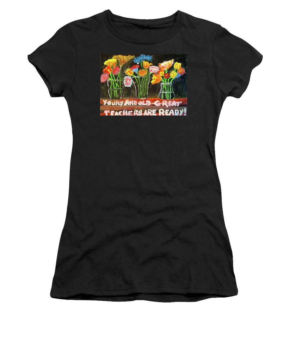 Oil Painting Women's T-Shirt (Athletic Fit) featuring the painting It's A Wonderful Day by John Russo