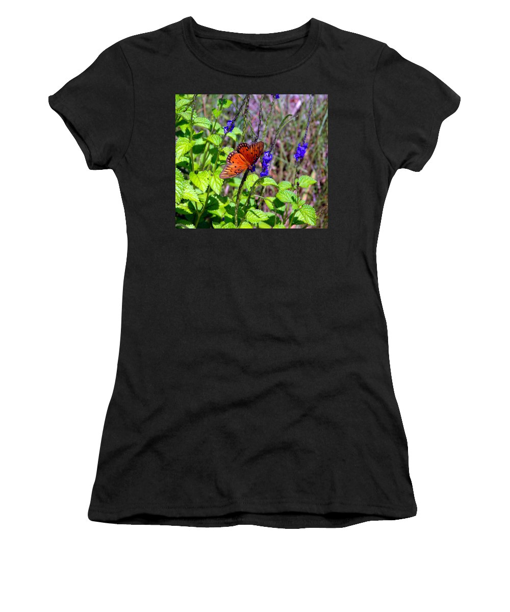 Butterfly Women's T-Shirt (Athletic Fit) featuring the photograph Its Summer by Susanne Van Hulst