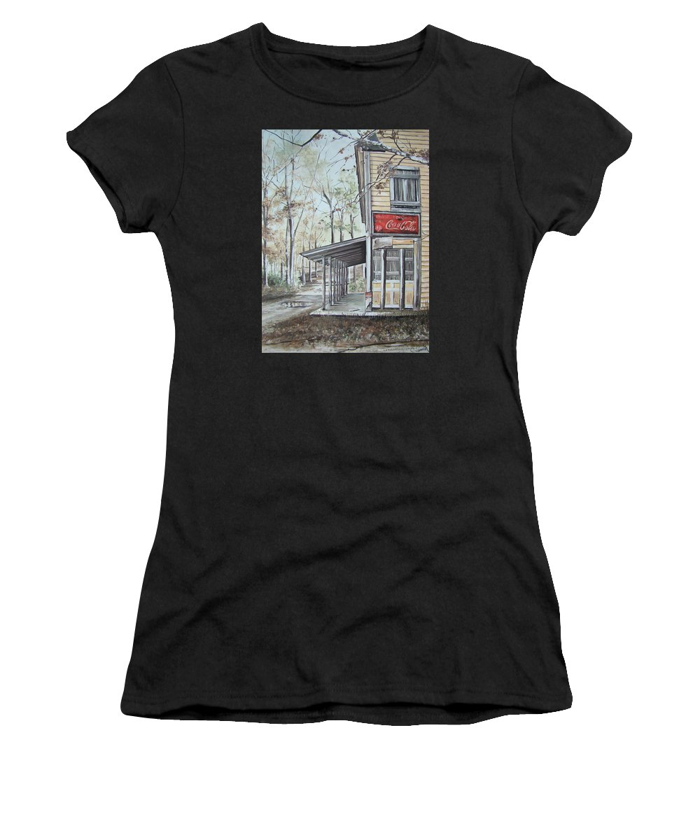 Charles Roy Smith Women's T-Shirt featuring the painting Jackson Springs by Charles Roy Smith