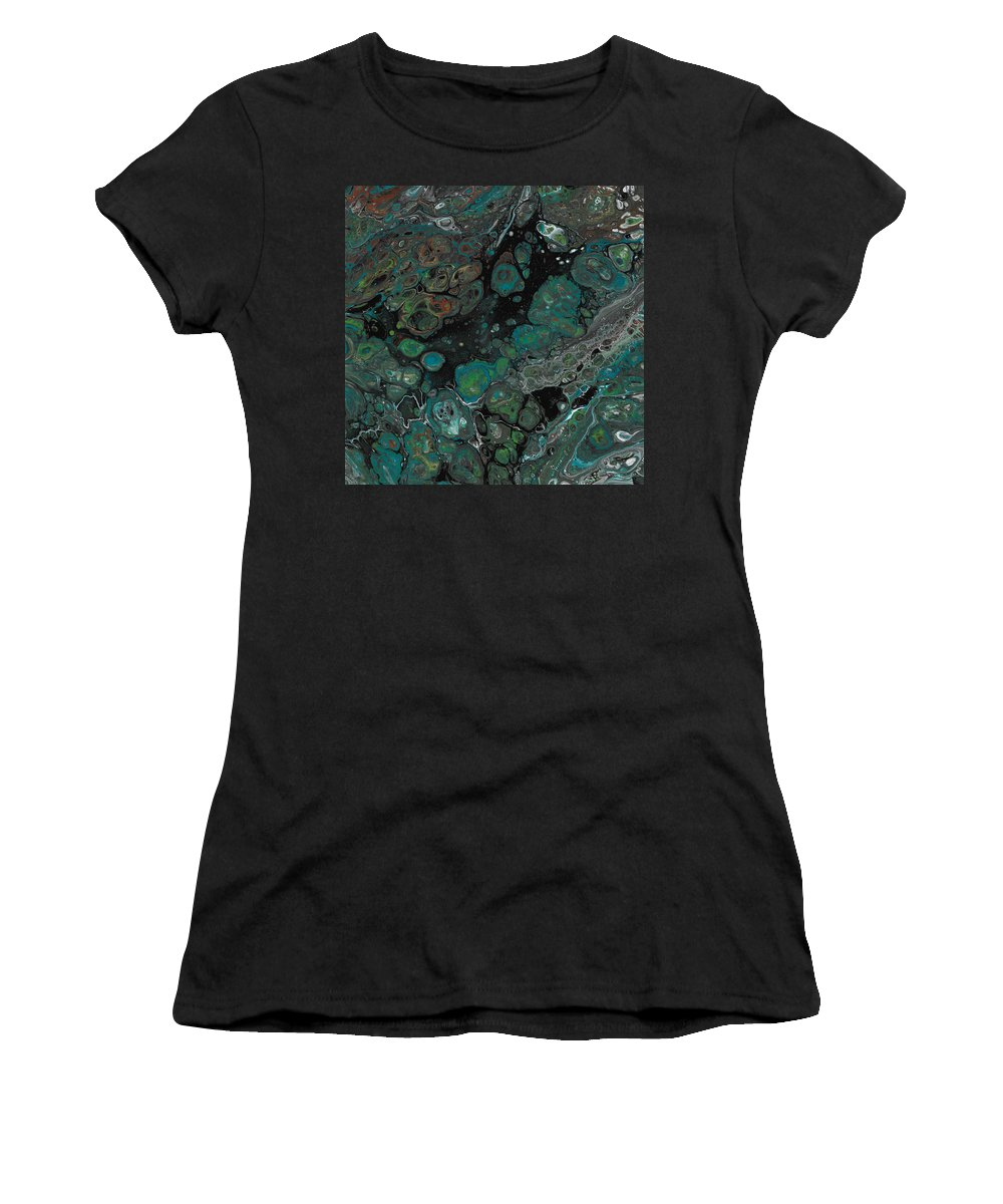 Green Women's T-Shirt featuring the painting Jaded by Nicole Hall