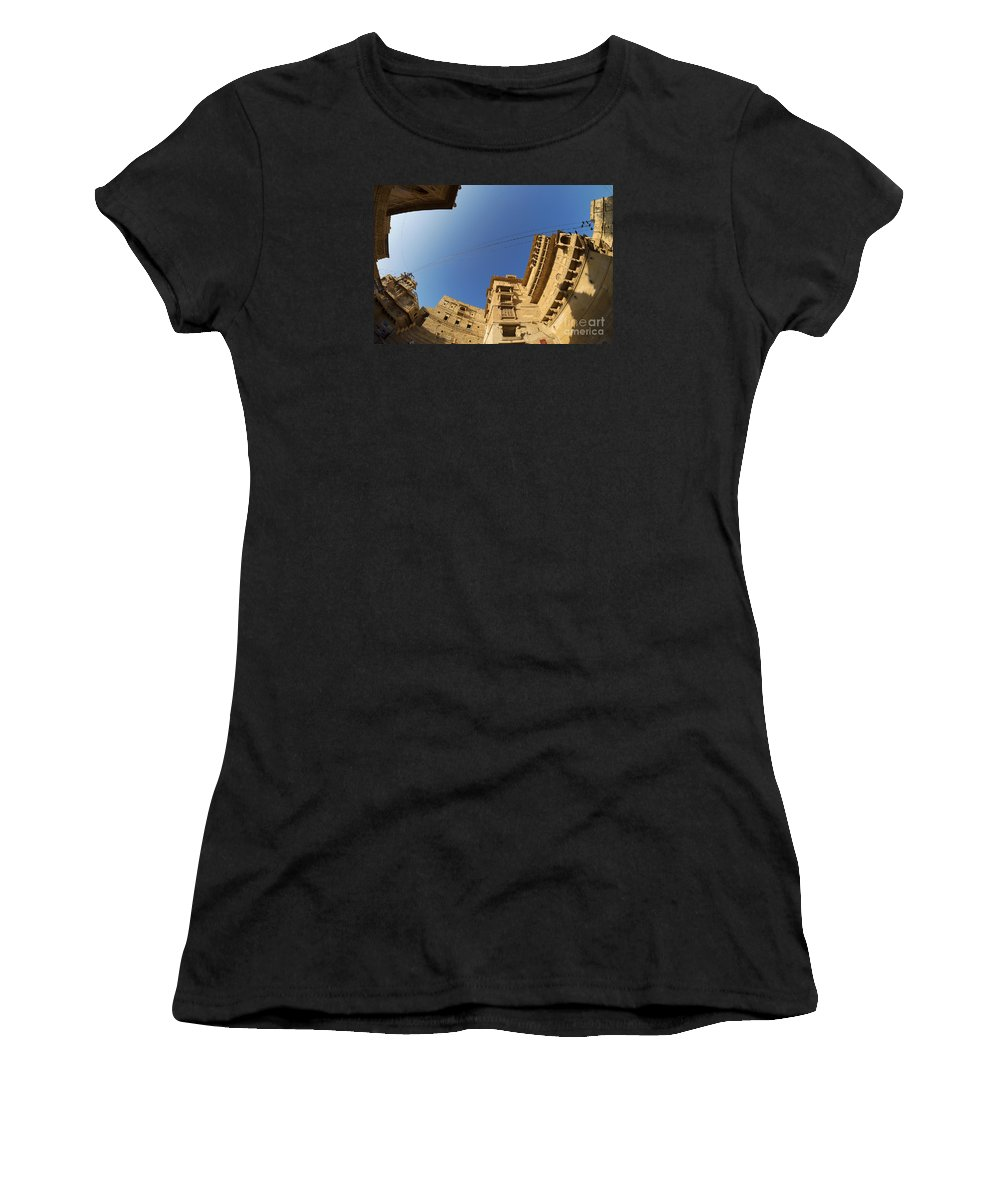India Women's T-Shirt (Athletic Fit) featuring the photograph Jaisalmer Fort by Yew Kwang