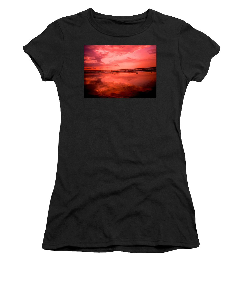 Sunset Women's T-Shirt (Athletic Fit) featuring the photograph Jamaica Sunset by Ian MacDonald