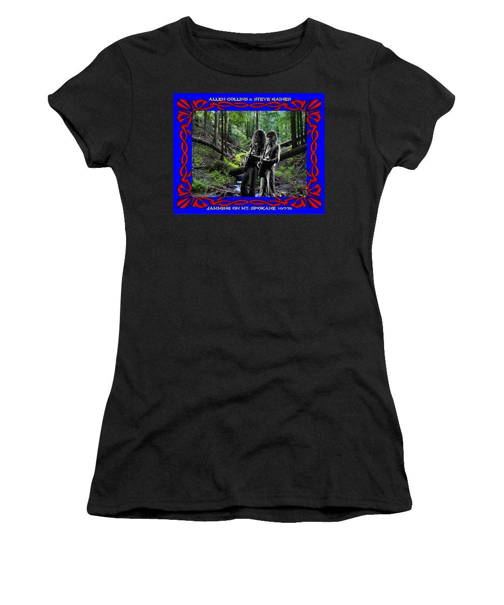 Allen Collins Women's T-Shirt featuring the photograph Jamming On Mt. Spokane 1 by Ben Upham