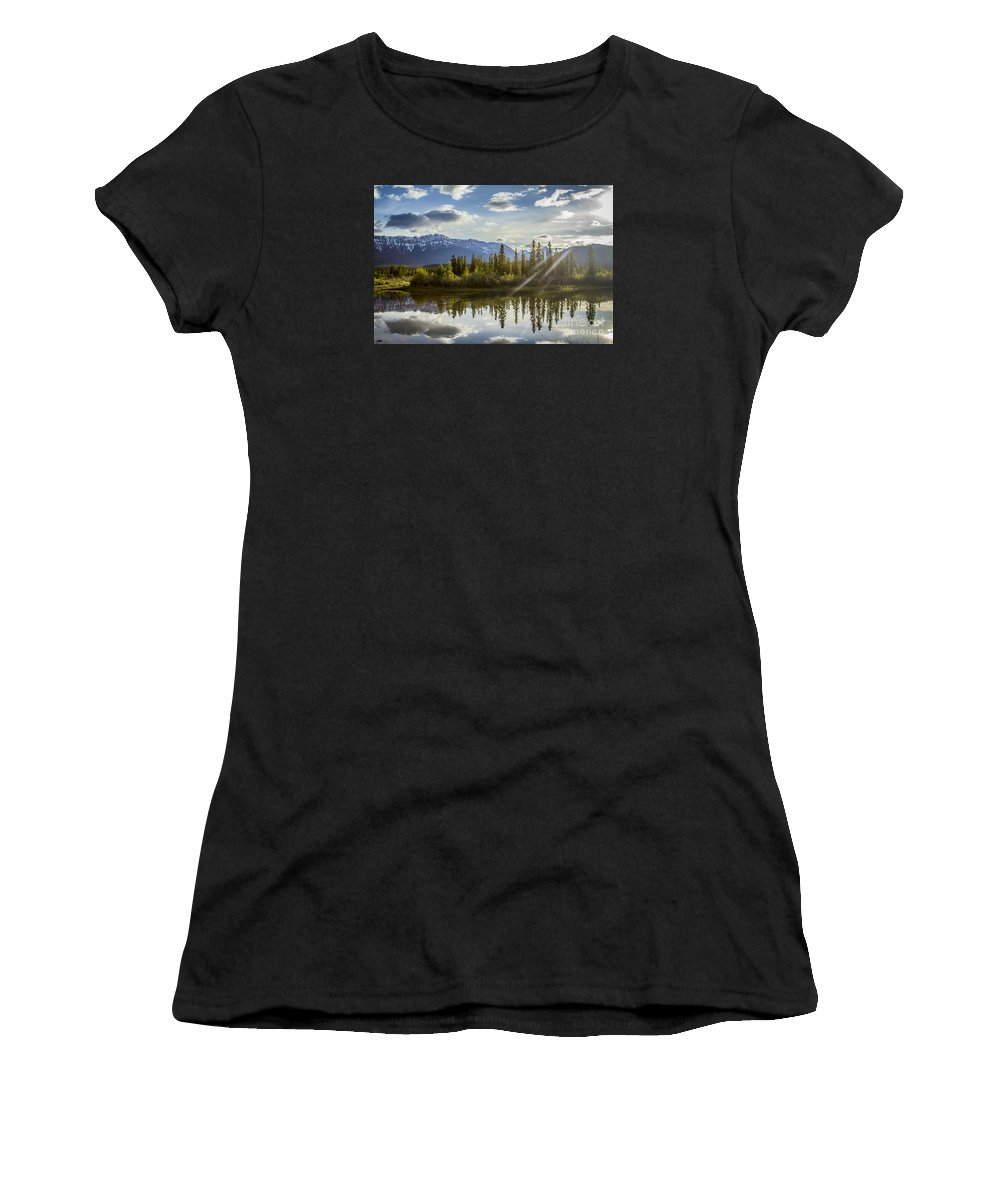 Jasper Women's T-Shirt featuring the photograph Jasper Glory Rocky Mountain View by Alanna DPhoto